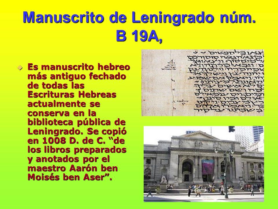 Manuscrito de Leningrado núm. B 19A,