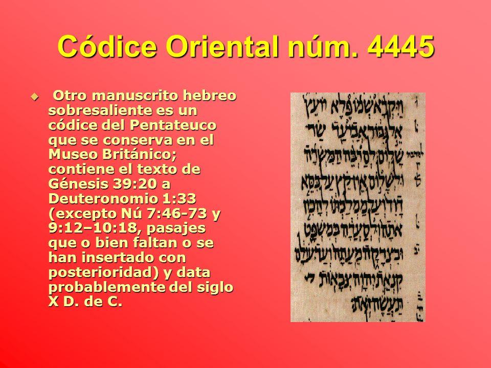 Códice Oriental núm. 4445
