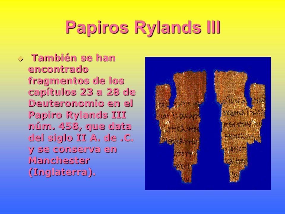 Papiros Rylands III