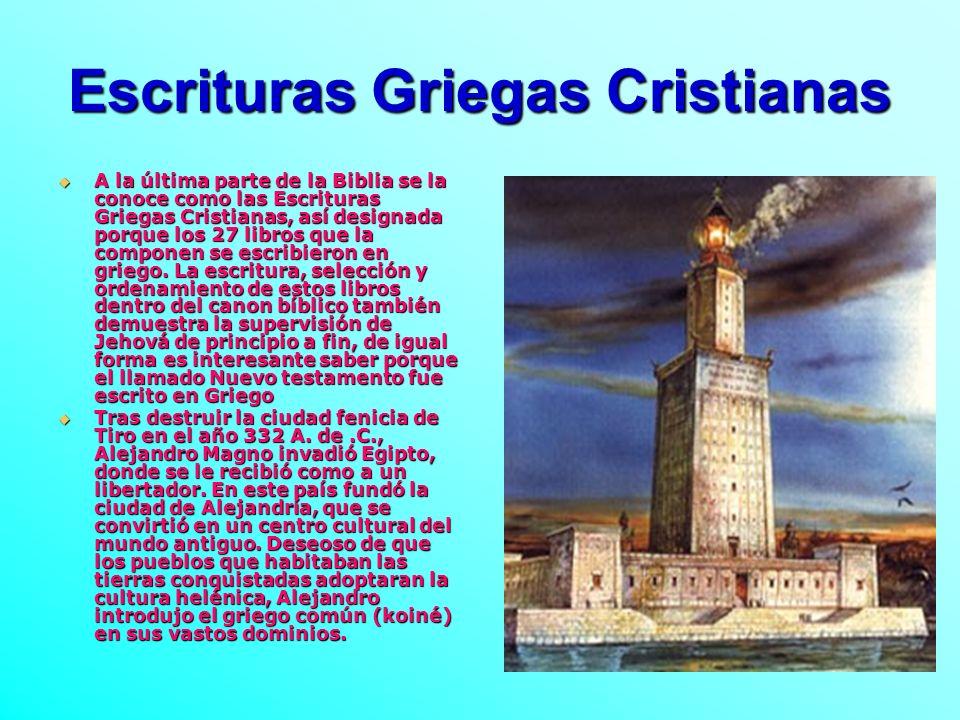 Escrituras Griegas Cristianas