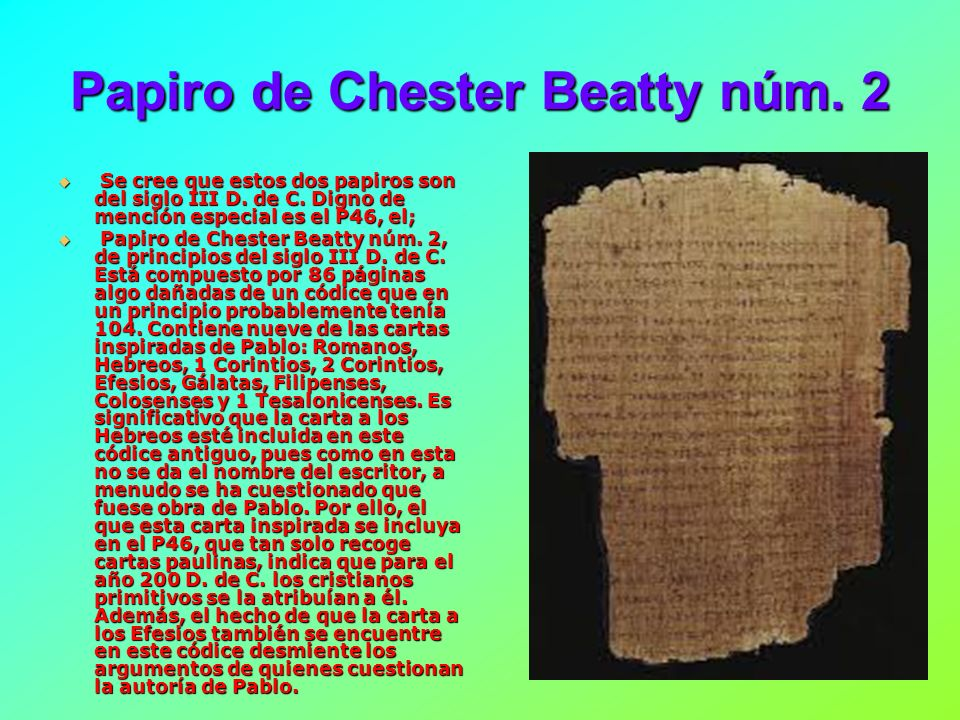 Papiro de Chester Beatty núm. 2
