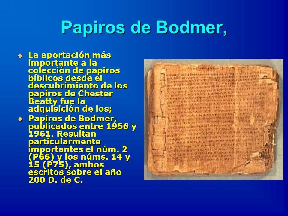 Papiros de Bodmer,