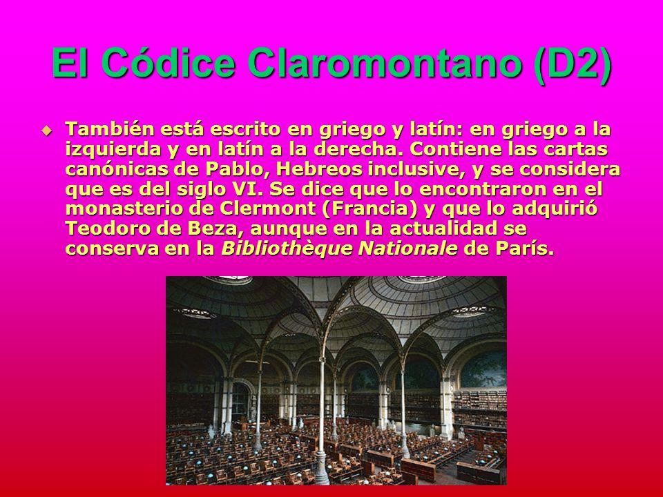 El Códice Claromontano (D2)