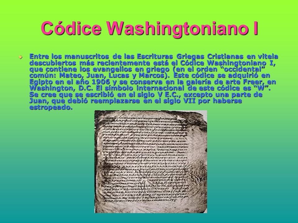 Códice Washingtoniano I