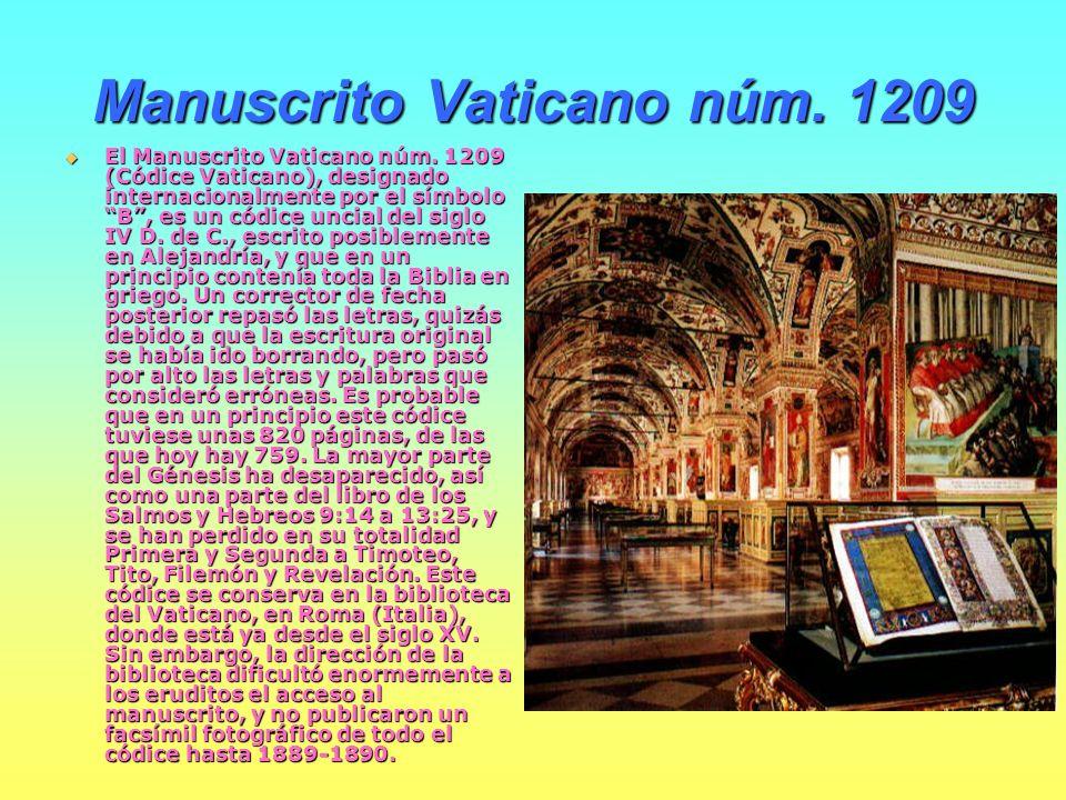 Manuscrito Vaticano núm. 1209