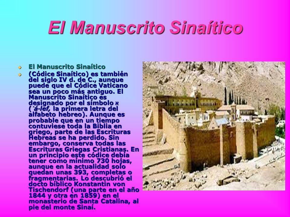 El Manuscrito Sinaítico