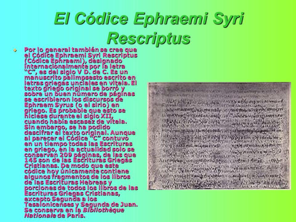 El Códice Ephraemi Syri Rescriptus