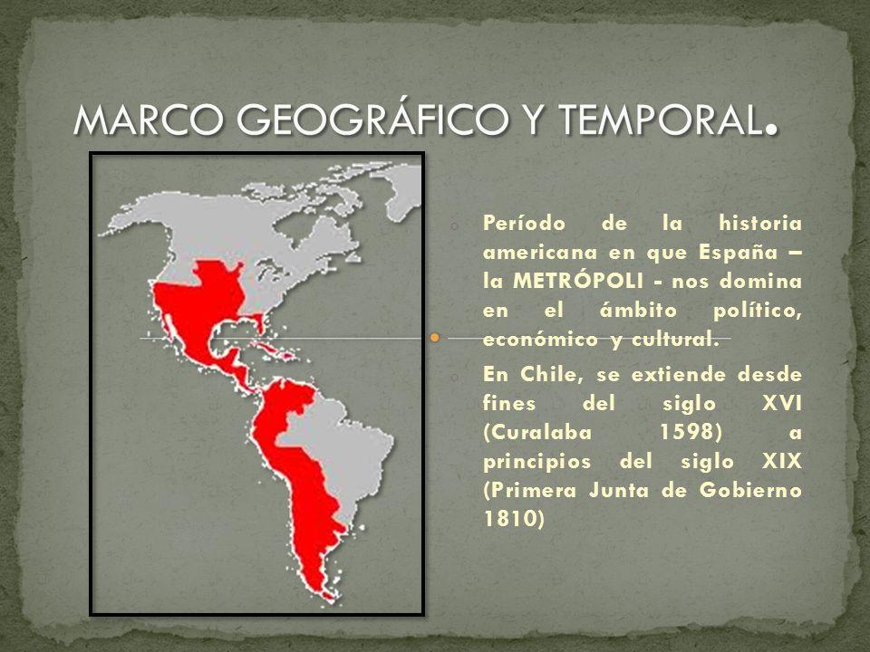 MARCO GEOGRÁFICO Y TEMPORAL.