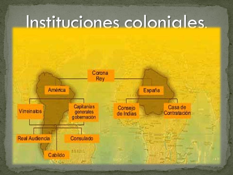 Instituciones coloniales.