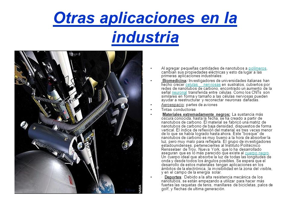 Otras aplicaciones en la industria