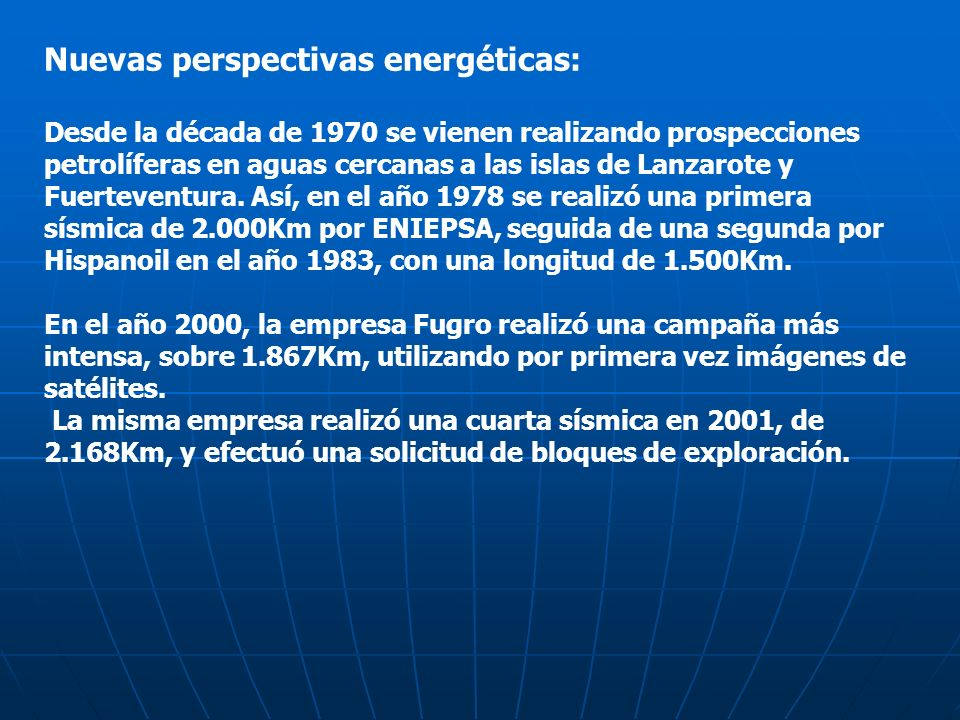 Nuevas perspectivas energéticas: