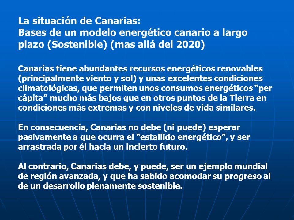La situación de Canarias: