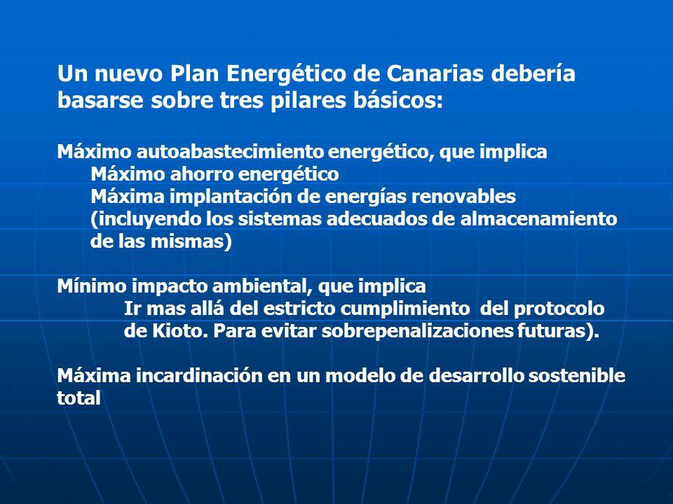 Un nuevo Plan Energético de Canarias debería basarse sobre tres pilares básicos: