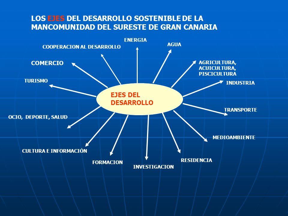 LOS EJES DEL DESARROLLO SOSTENIBLE DE LA MANCOMUNIDAD DEL SURESTE DE GRAN CANARIA