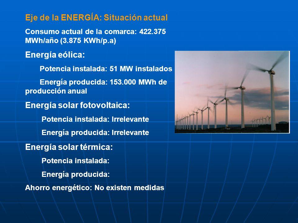 Eje de la ENERGÍA: Situación actual