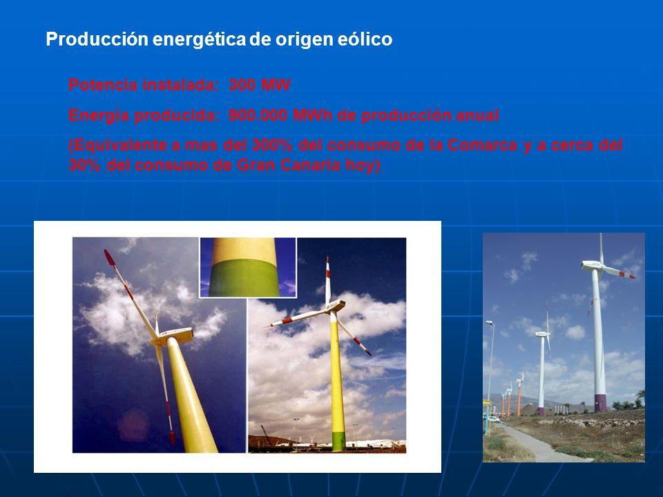 Producción energética de origen eólico