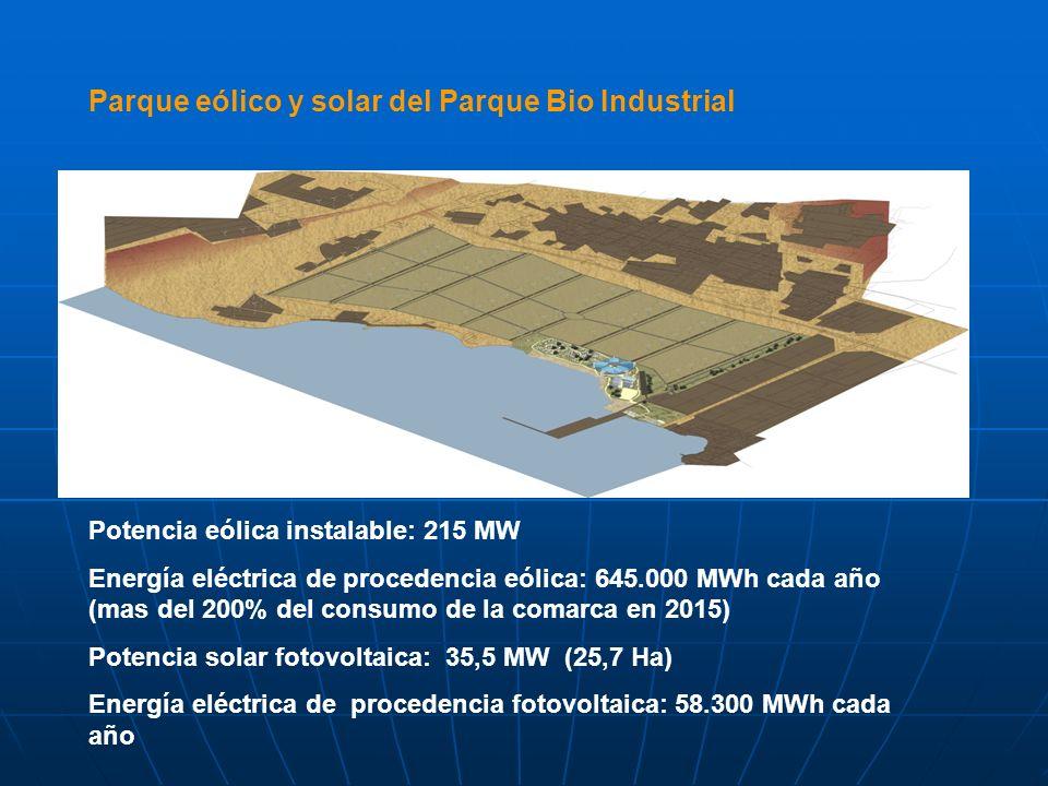 Parque eólico y solar del Parque Bio Industrial