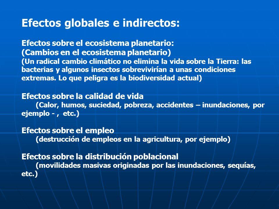 Efectos globales e indirectos: