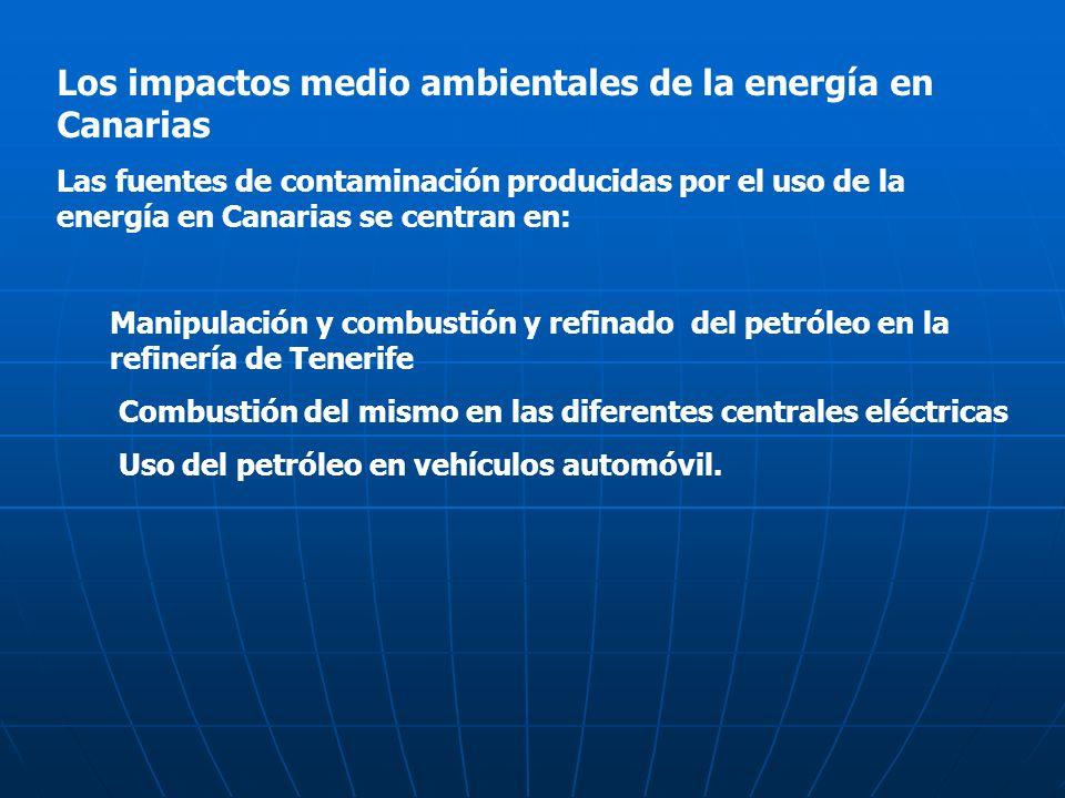 Los impactos medio ambientales de la energía en Canarias
