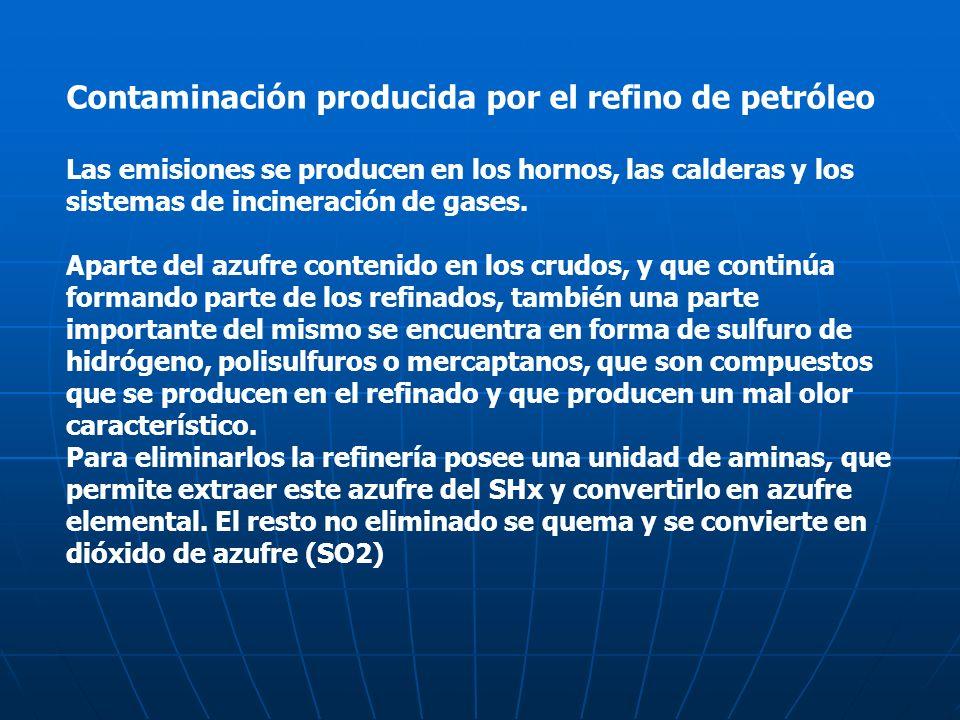 Contaminación producida por el refino de petróleo