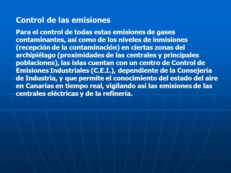 Control de las emisiones