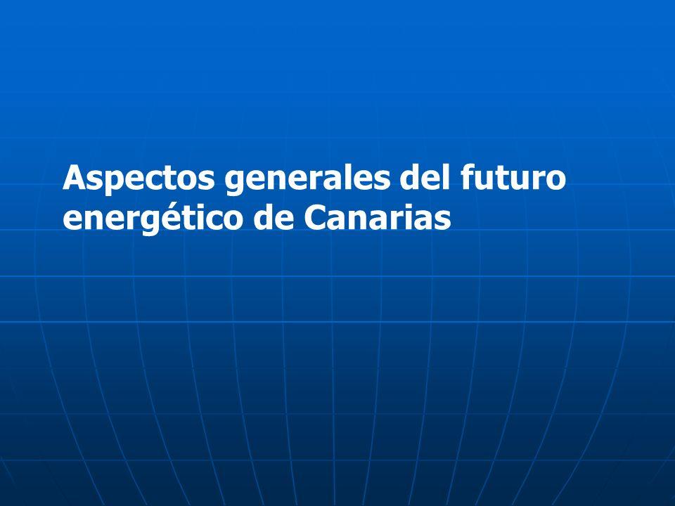 Aspectos generales del futuro energético de Canarias