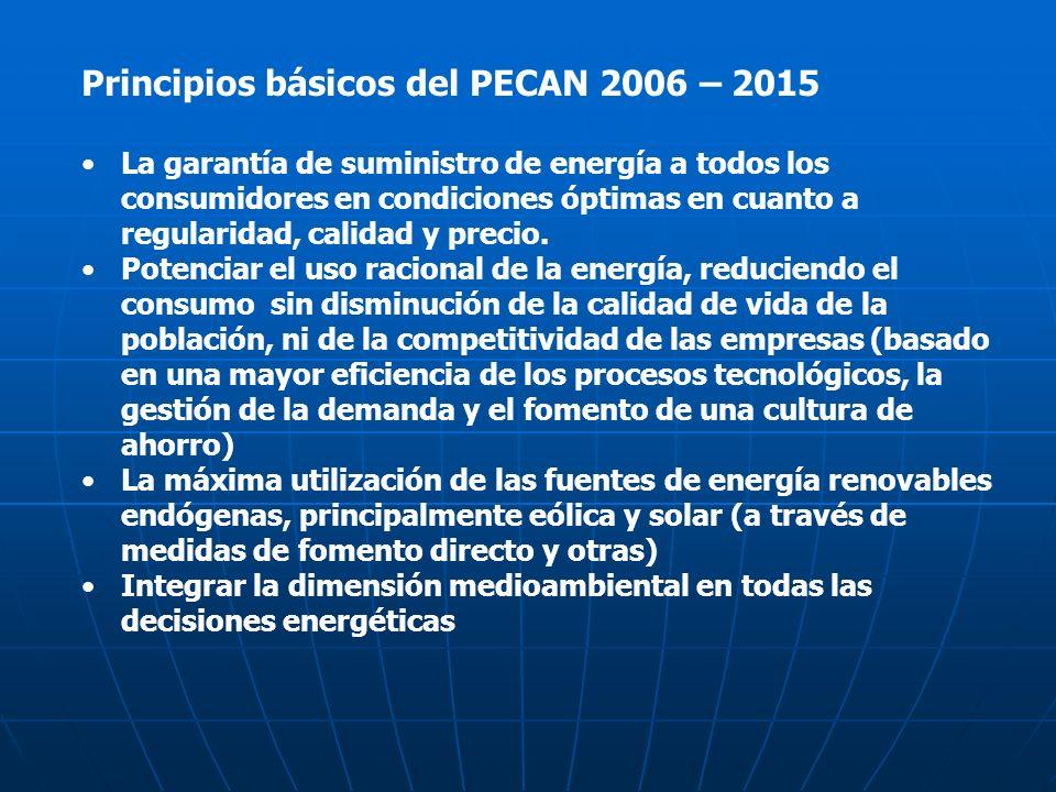 Principios básicos del PECAN 2006 – 2015