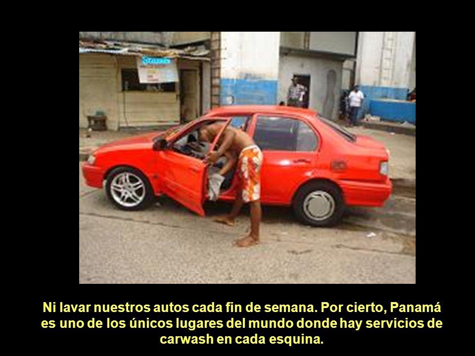 Ni lavar nuestros autos cada fin de semana