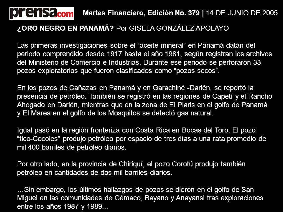Martes Financiero, Edición No. 379 | 14 DE JUNIO DE 2005