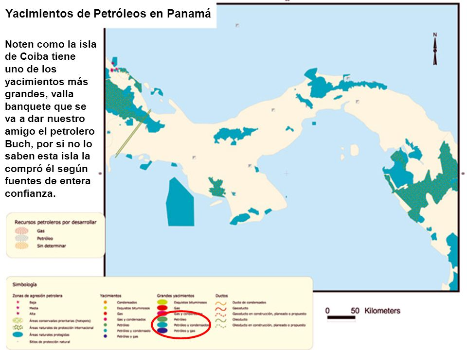 Yacimientos de Petróleos en Panamá