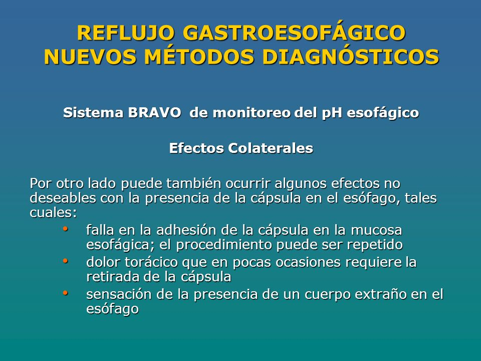 REFLUJO GASTROESOFÁGICO NUEVOS MÉTODOS DIAGNÓSTICOS