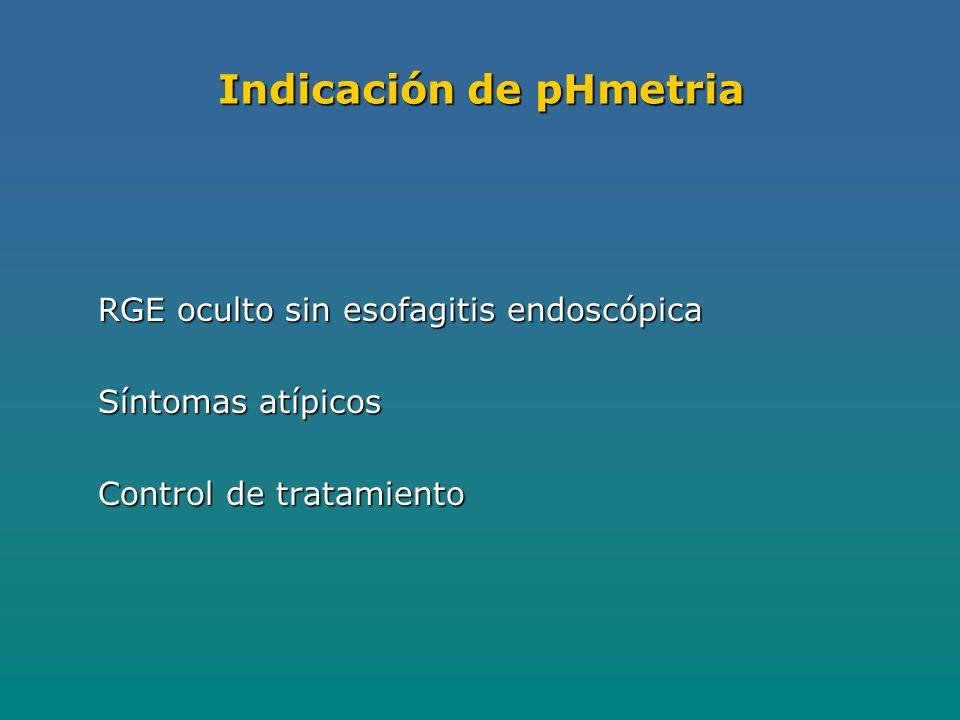 Indicación de pHmetria