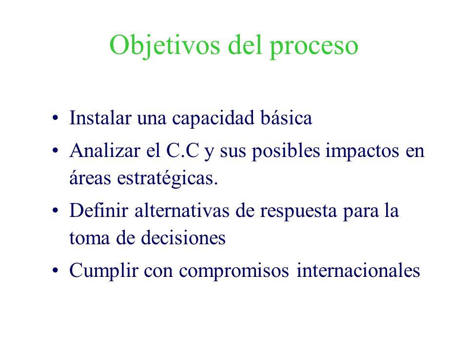Objetivos del proceso Instalar una capacidad básica