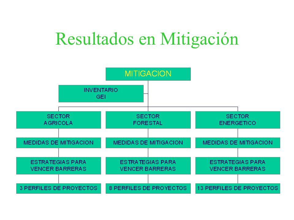 Resultados en Mitigación