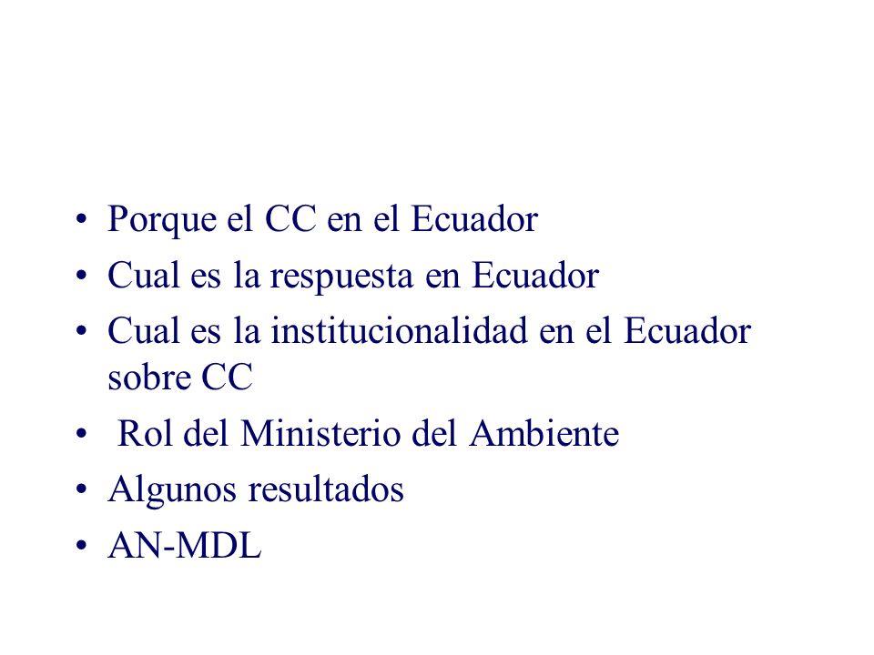 Porque el CC en el Ecuador