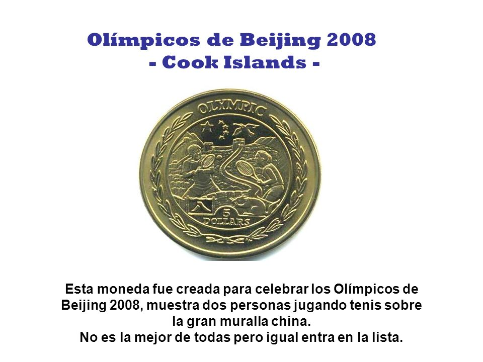 Olímpicos de Beijing 2008 - Cook Islands -