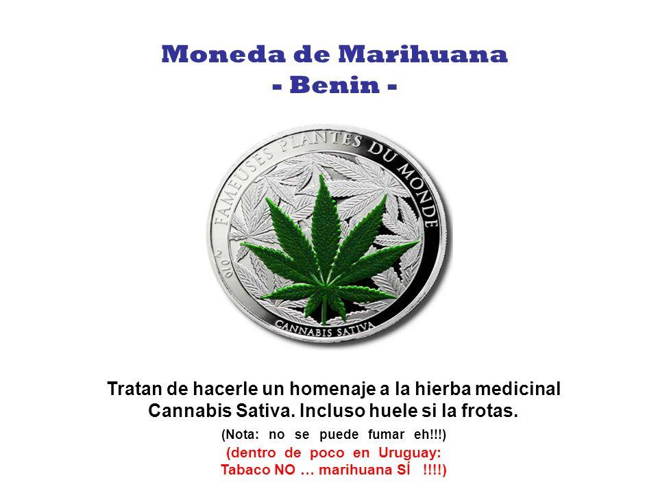 Moneda de Marihuana - Benin -