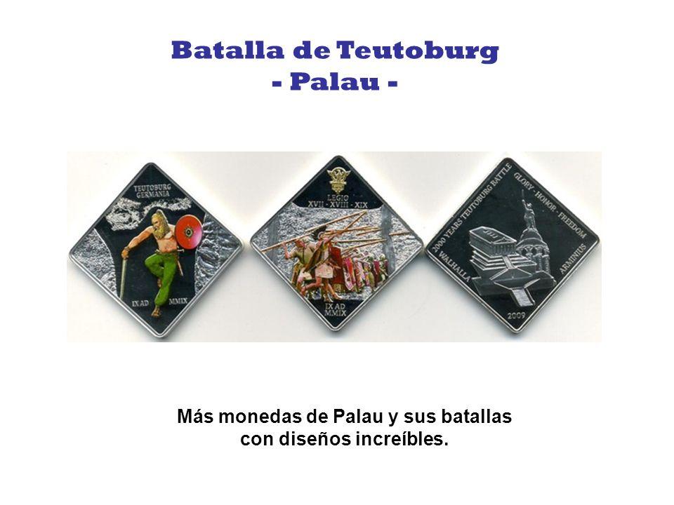 Más monedas de Palau y sus batallas