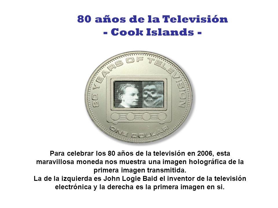 80 años de la Televisión - Cook Islands -