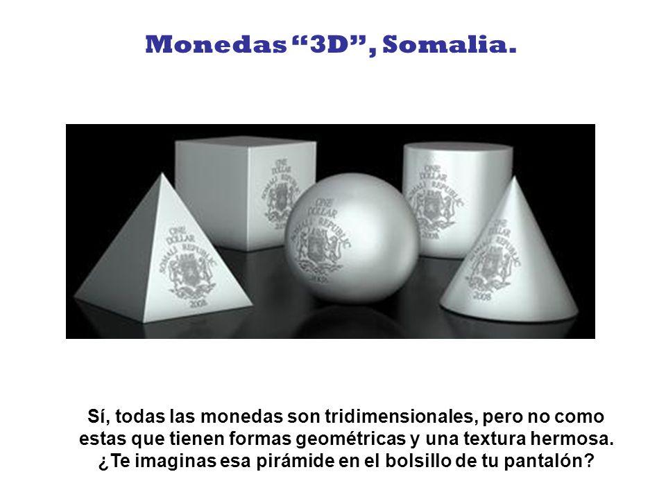 Monedas 3D , Somalia.