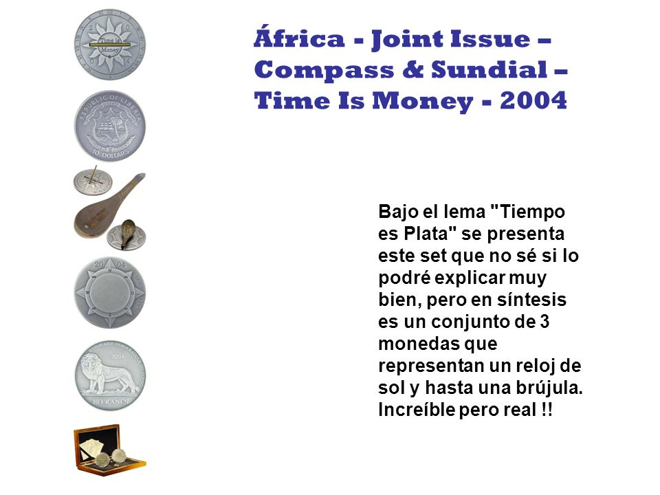 África - Joint Issue – Compass & Sundial – Time Is Money - 2004