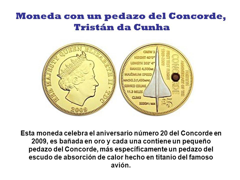 Moneda con un pedazo del Concorde,
