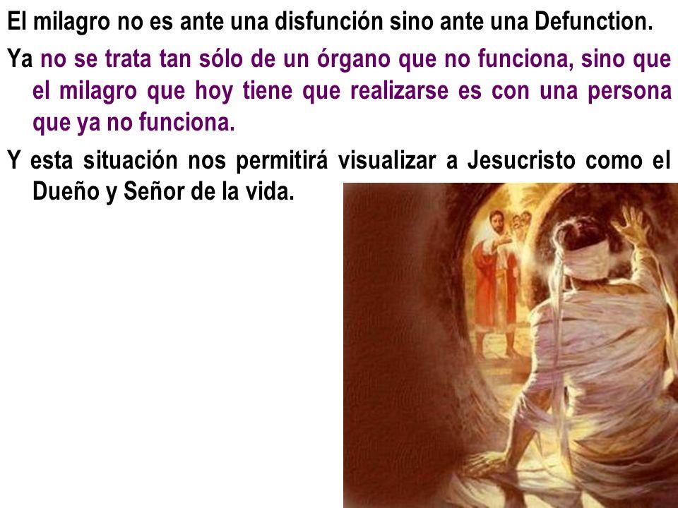 El milagro no es ante una disfunción sino ante una Defunction.