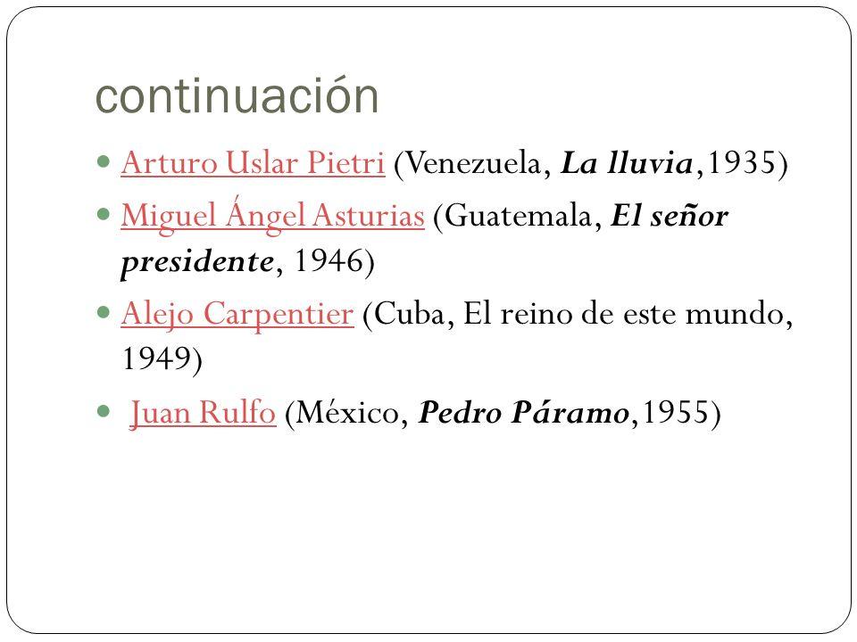 continuación Arturo Uslar Pietri (Venezuela, La lluvia,1935)
