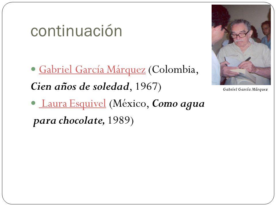 continuación Gabriel García Márquez (Colombia,