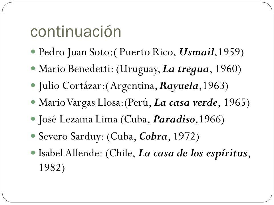 continuación Pedro Juan Soto:( Puerto Rico, Usmail,1959)