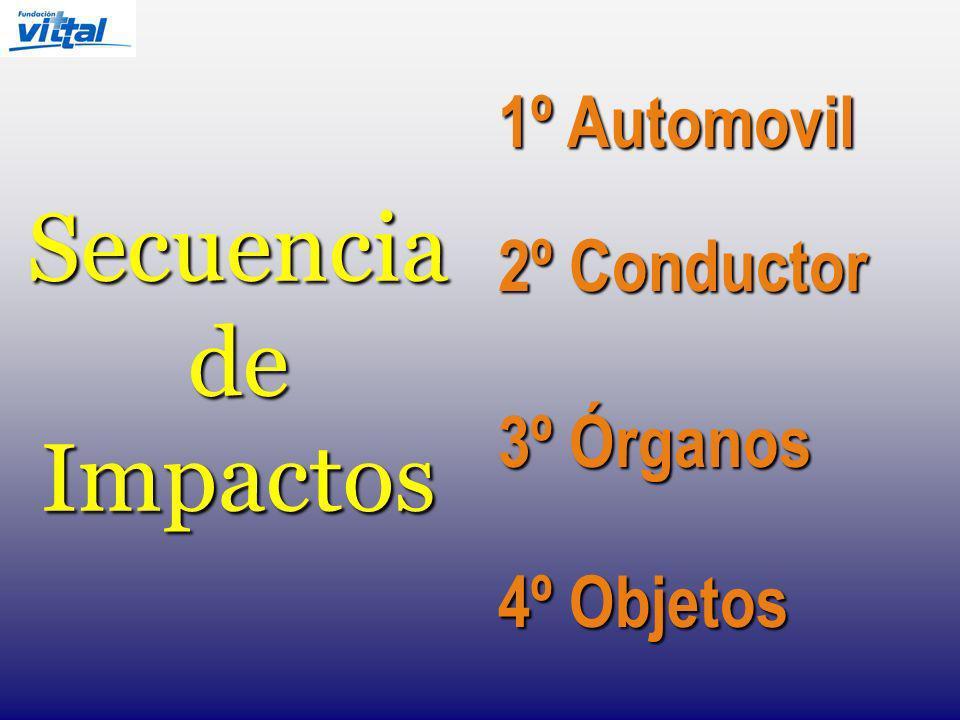 1º Automovil 2º Conductor Secuencia de Impactos 3º Órganos 4º Objetos