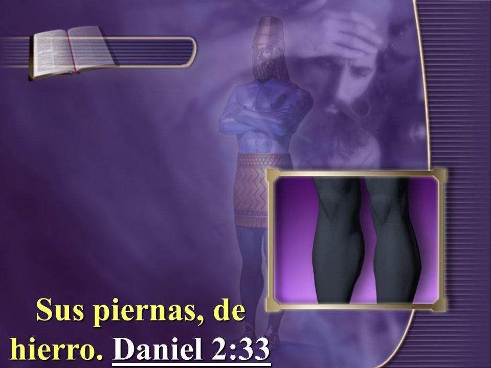 Sus piernas, de hierro. Daniel 2:33