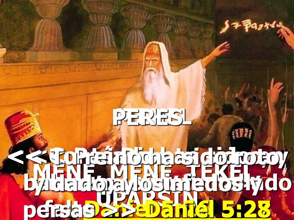 << Contó Dios tu reino, y le ha puesto fin >> Daniel 5:26