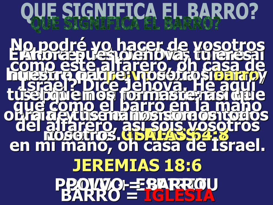 QUE SIGNIFICA EL BARRO